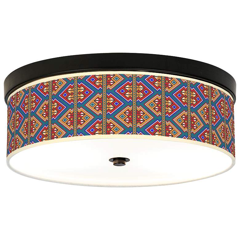 Rich Bohemian Giclee Energy Efficient Bronze Ceiling Light