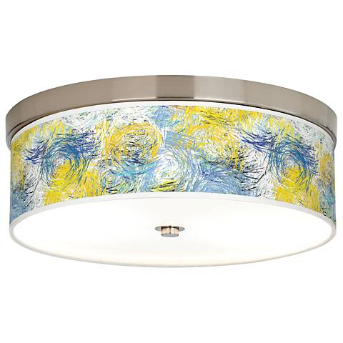 Starry Dawn Giclee Energy Efficient Ceiling Light