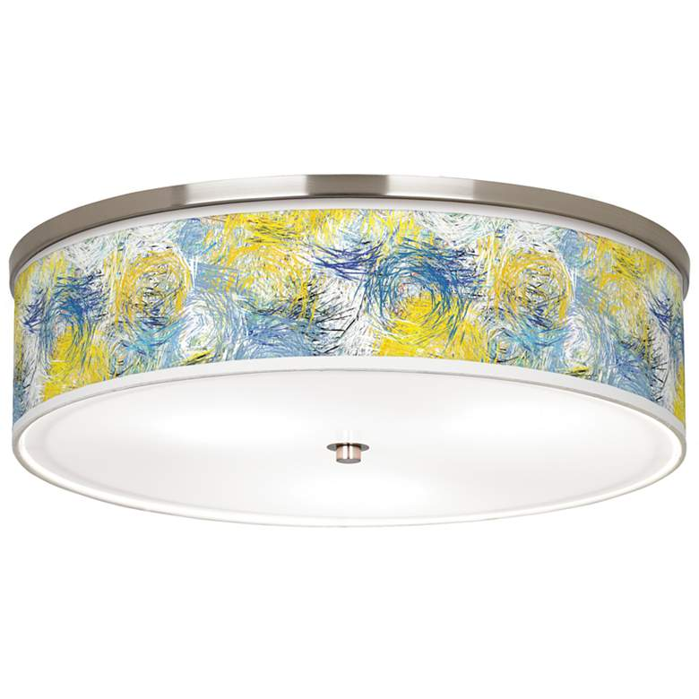 """Starry Dawn Giclee Nickel 20 1/4"""" Wide Ceiling Light"""