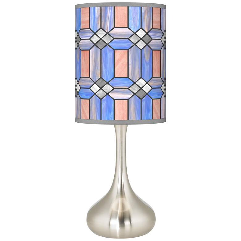 Asscher Tiffany-Style Giclee Droplet Table Lamp