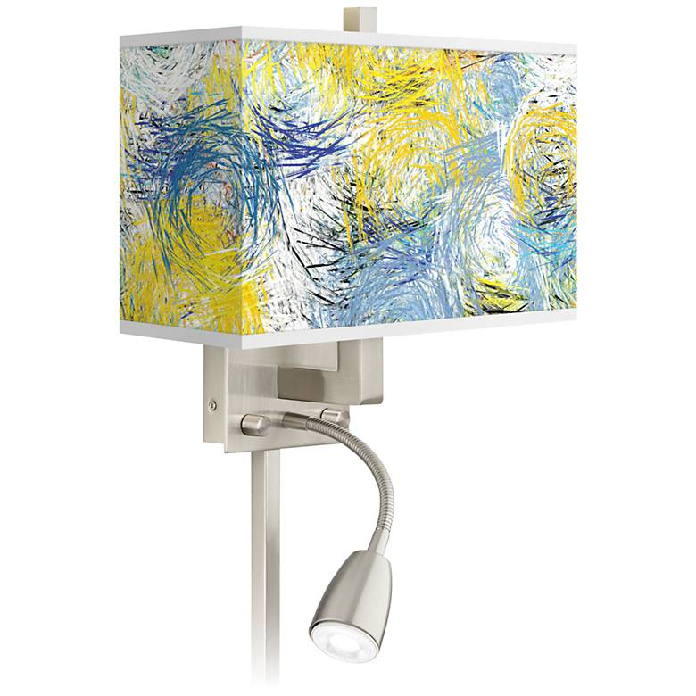 Starry Dawn Giclee Glow LED Reading Light Plug-In Sconce