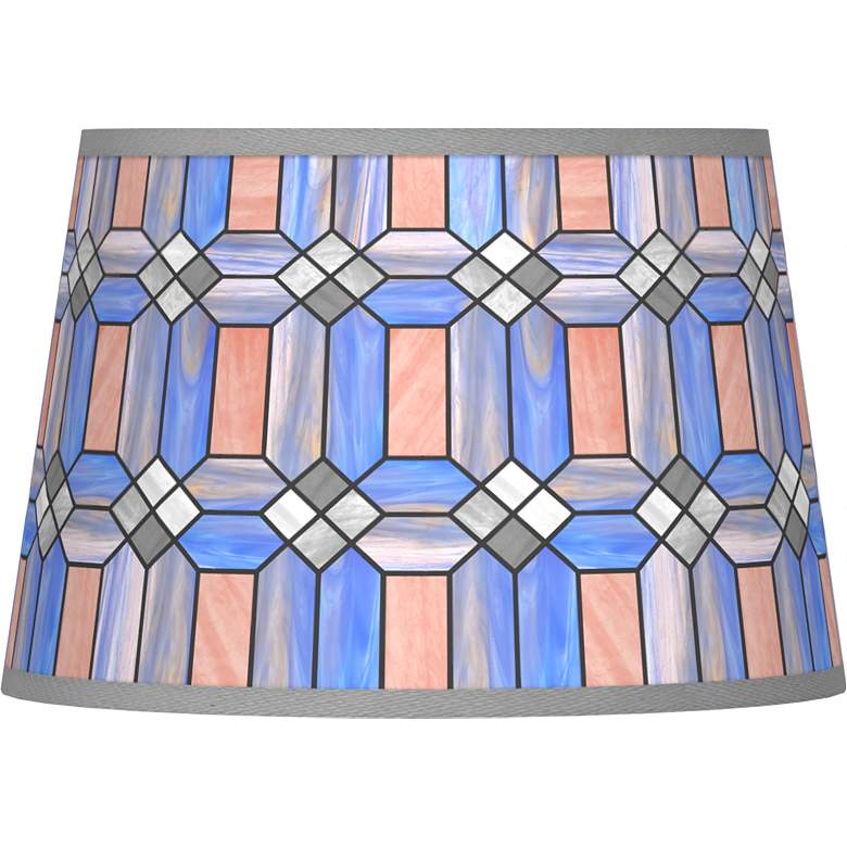 Asscher Tiffany-Style Tapered Shade 13x16x10.5 (Spider)