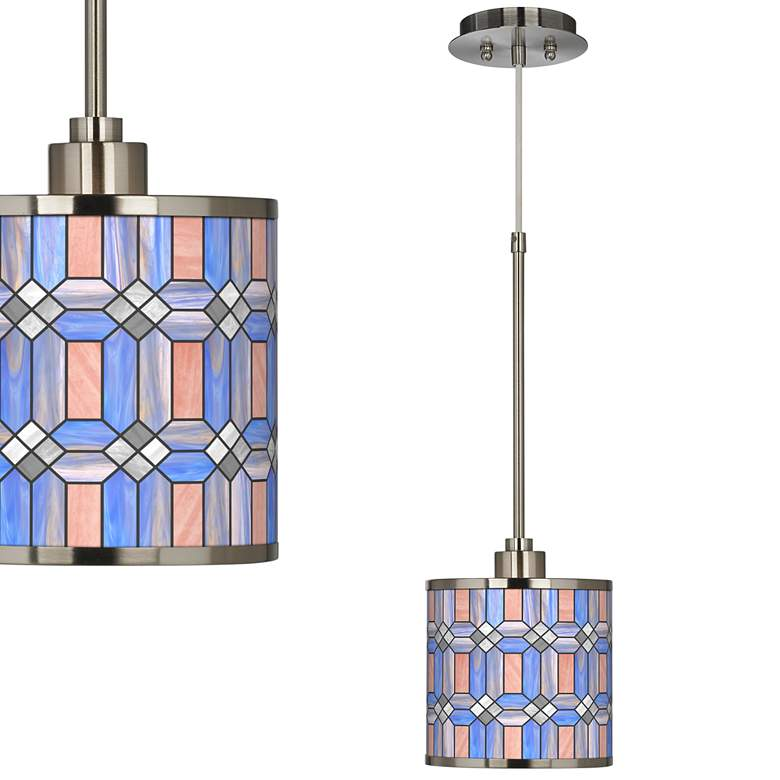 Asscher Tiffany-Style Giclee Glow Mini Pendant Light