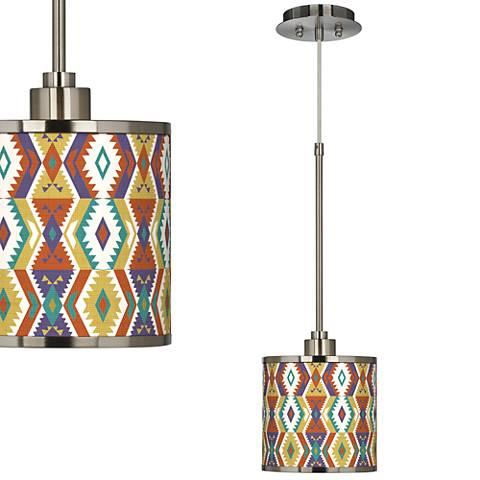 Southwest Bohemian Giclee Glow Mini Pendant Light
