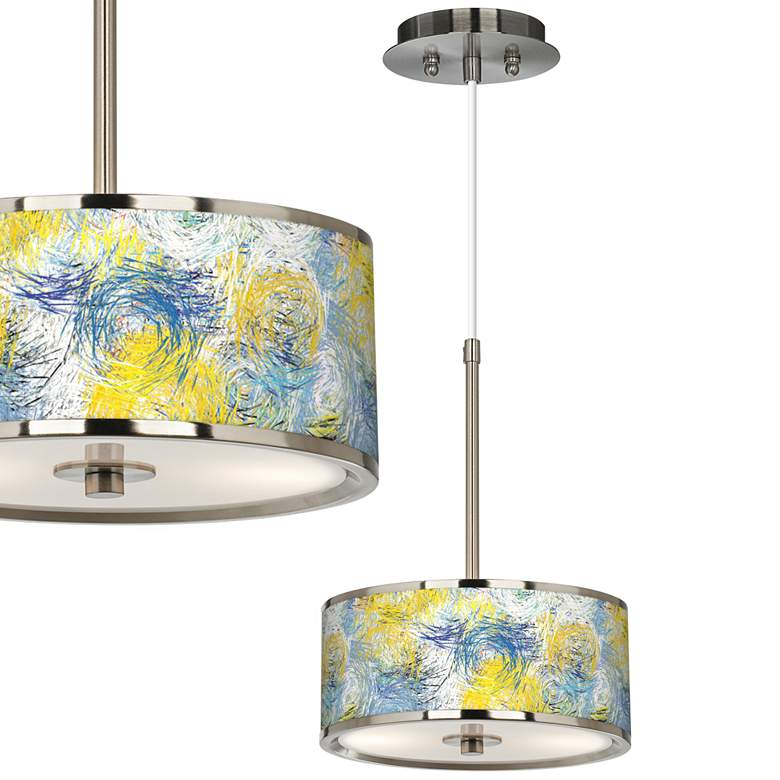 "Starry Dawn Giclee Glow 10 1/4"" Wide Pendant Light"