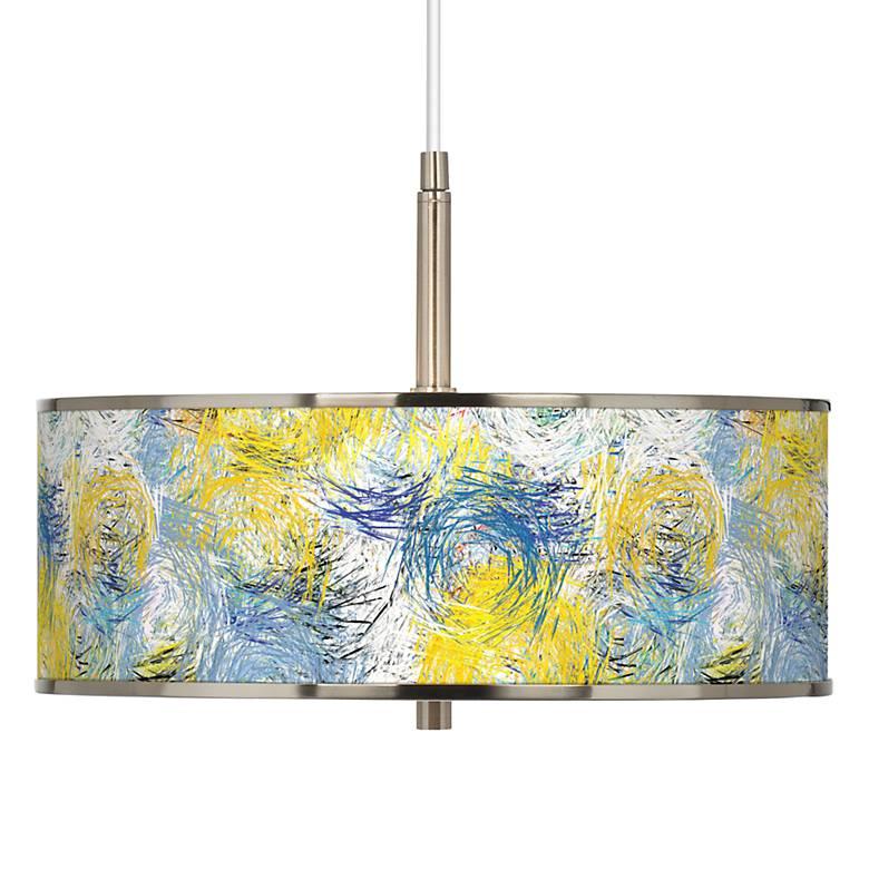 "Starry Dawn Giclee Glow 16"" Wide Pendant Light"