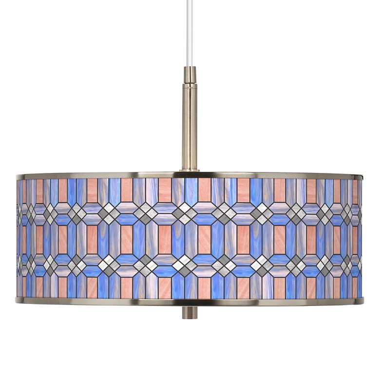 "Asscher Tiffany-Style Giclee Glow 16"" Wide Pendant Light"