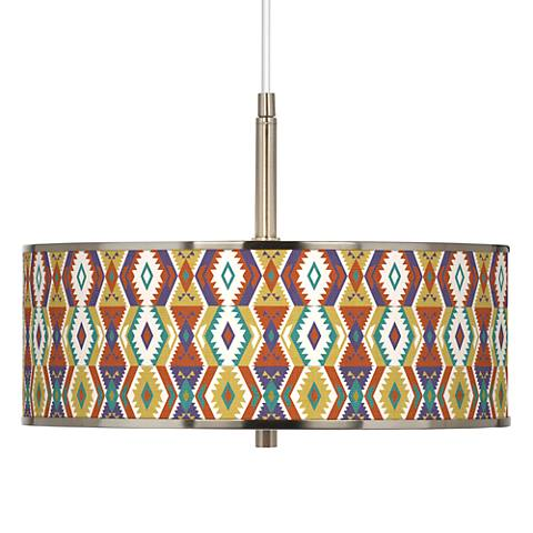"Southwest Bohemian Giclee Glow 16"" Wide Pendant Light"