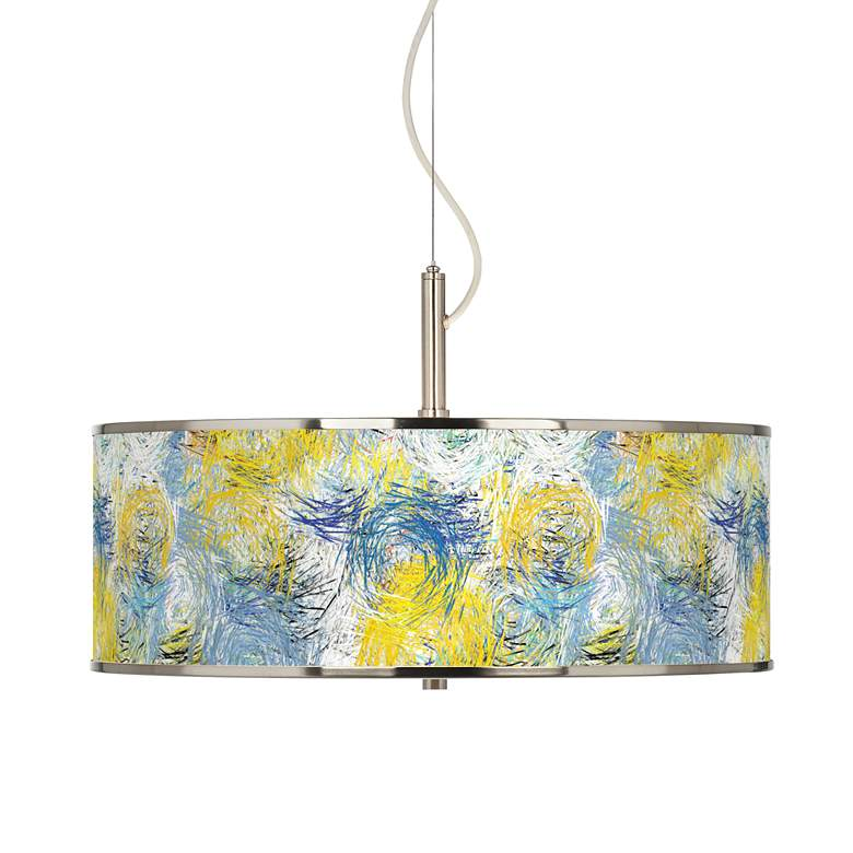"Starry Dawn Giclee Glow 20"" Wide Pendant Light"