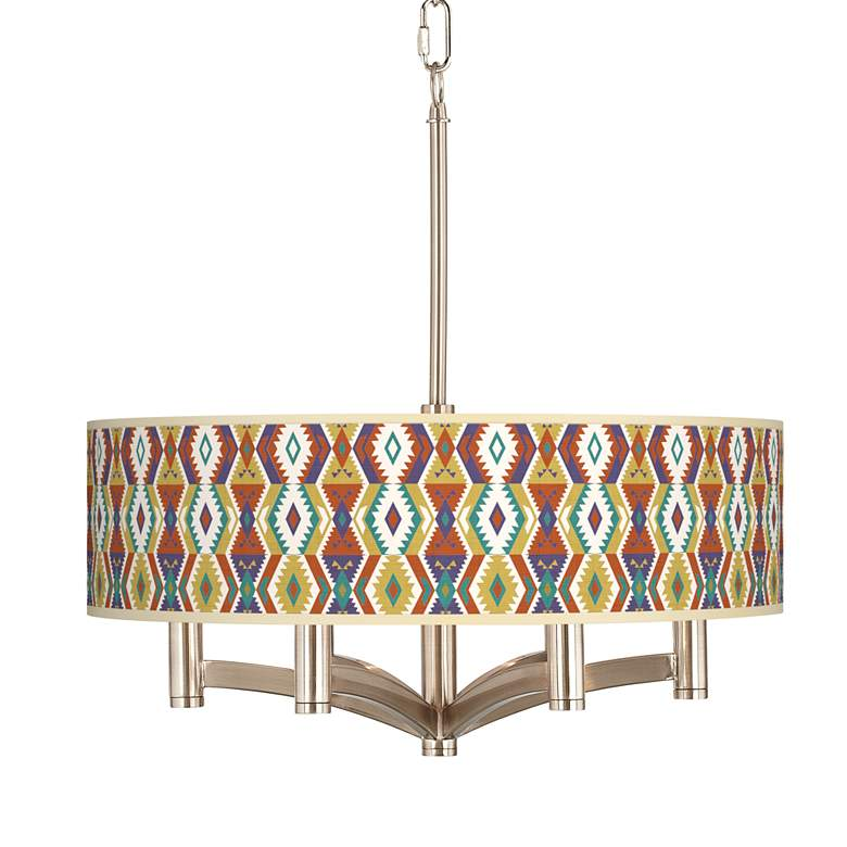 Southwest Bohemian Ava 6-Light Nickel Pendant Chandelier