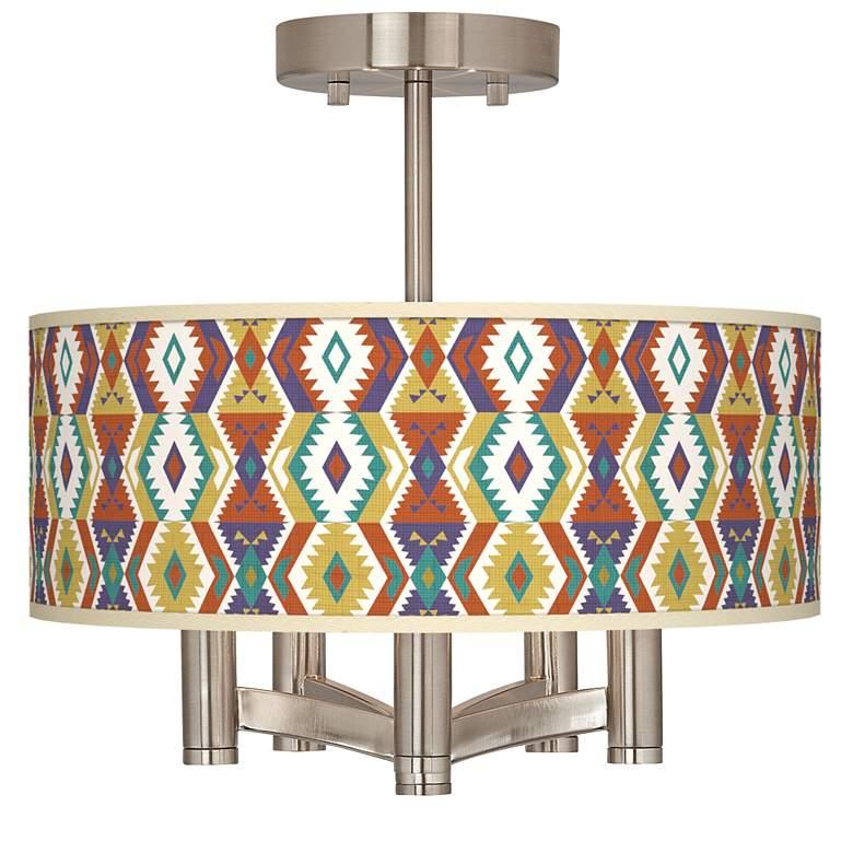 Southwest Ava 5-Light Nickel Ceiling Light