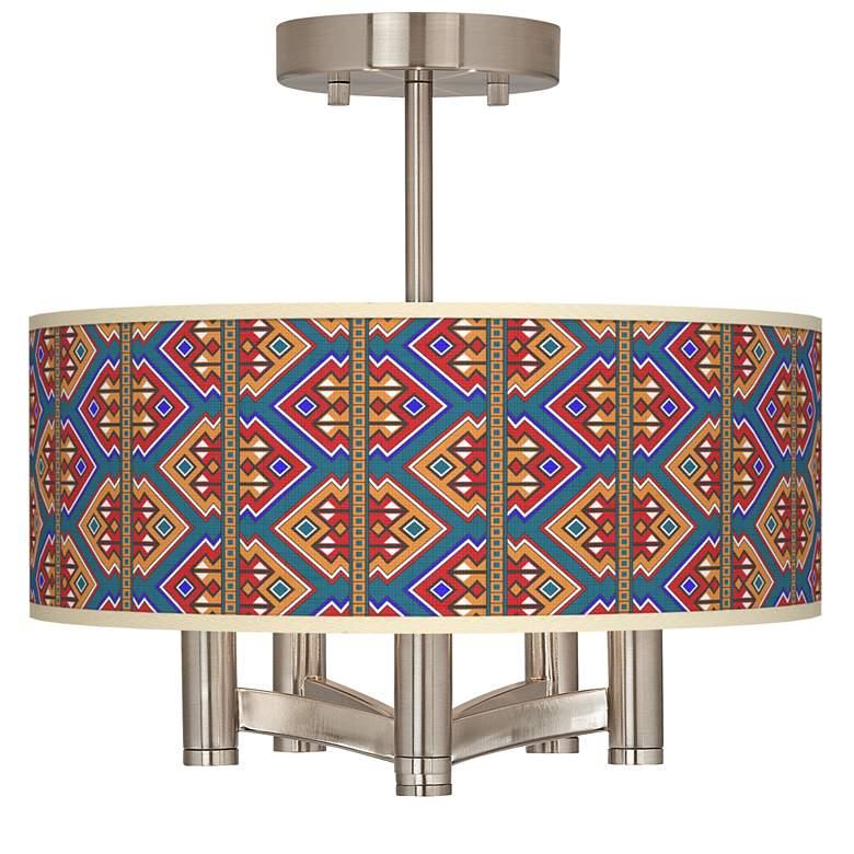 Rich Bohemian Ava 5-Light Nickel Ceiling Light