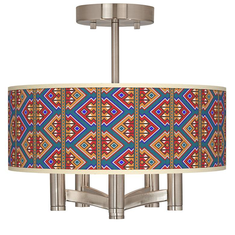 Rich Bohemian Ava 5 Light Nickel Ceiling Light 55h14 Lamps Plus