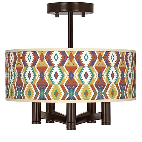 Southwest Bohemian Ava 5-Light Bronze Ceiling Light