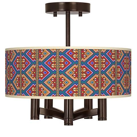 Rich Bohemian Ava 5-Light Bronze Ceiling Light