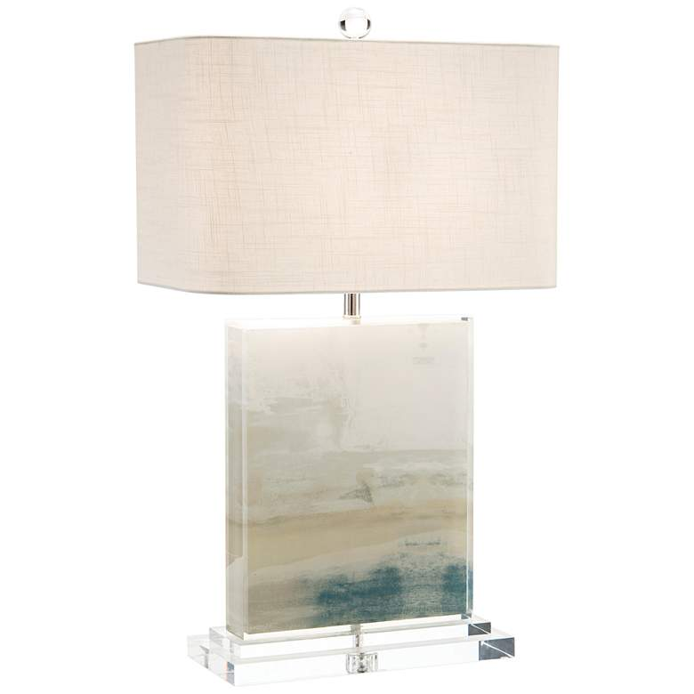 John Richard Slated Blue and Gray Table Lamp