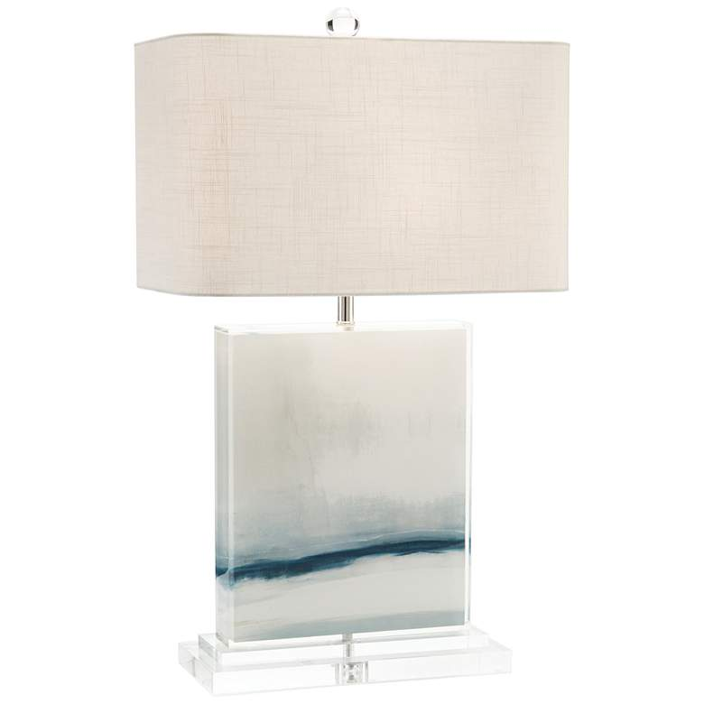 John Richard Enigma Off-White and Blue Table Lamp
