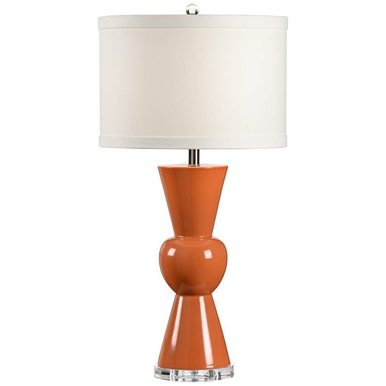 Wildwood Mildred Orange Glaze Porcelain Table Lamp