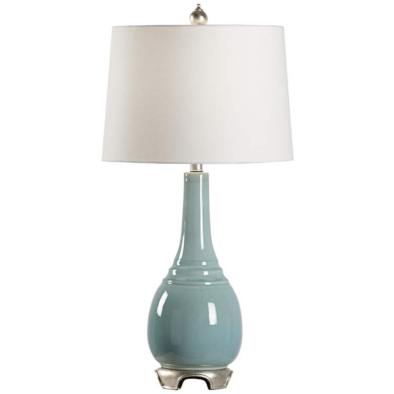 Wildwood Lilla Aquaverde Glaze Ceramic Table Lamp