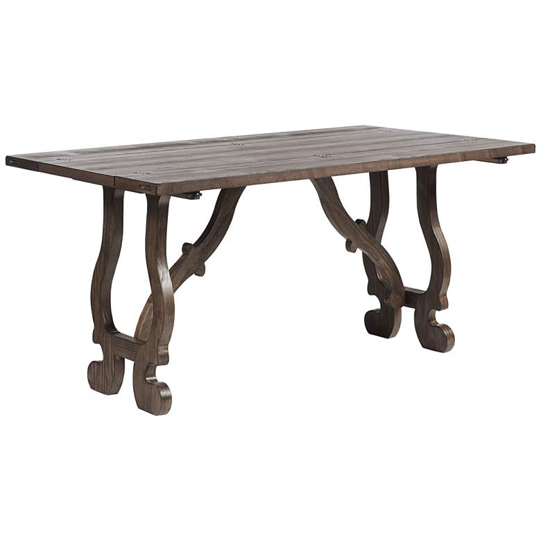 """Orchard 64"""" Wide Pine Wood Foldout Console Table"""