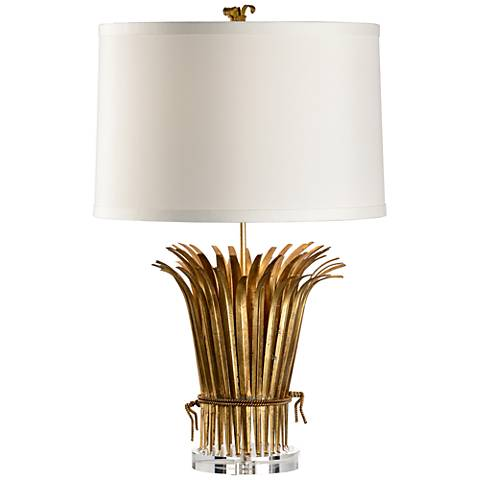 Wildwood Leaf Antique Gold Table Lamp