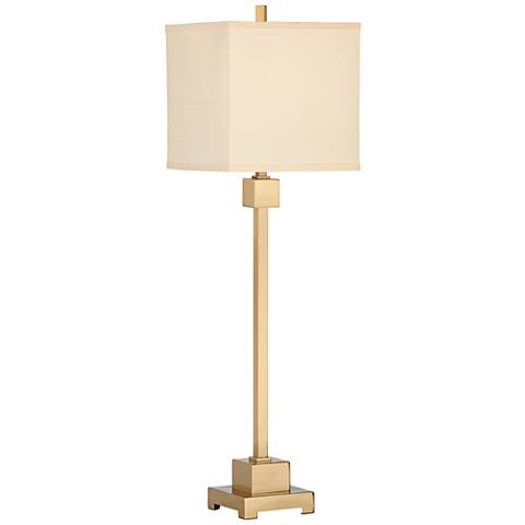 Wildwood Forest Brushed Brass Buffet Table Lamp
