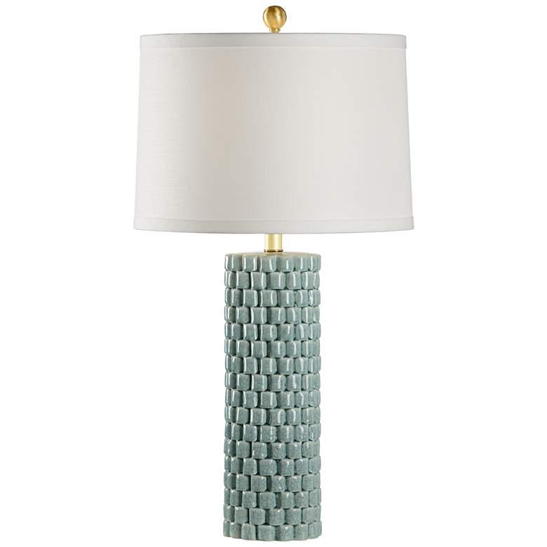Wildwood Potter Celadon Crackle Glaze Porcelain Table Lamp