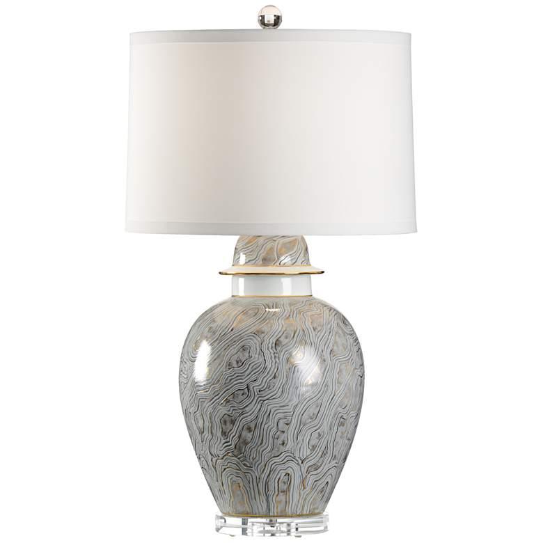 Wildwood Casper Gray Marbleized Porcelain Table Lamp