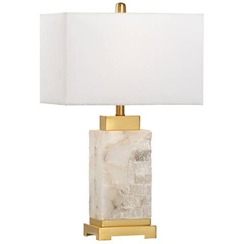 Wildwood Park Place Natural White Alabaster Table Lamp
