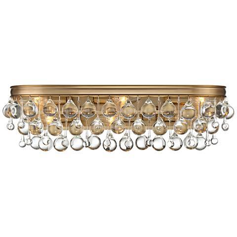 "Crystorama Calypso 23"" Wide Vibrant Gold Bath Light"