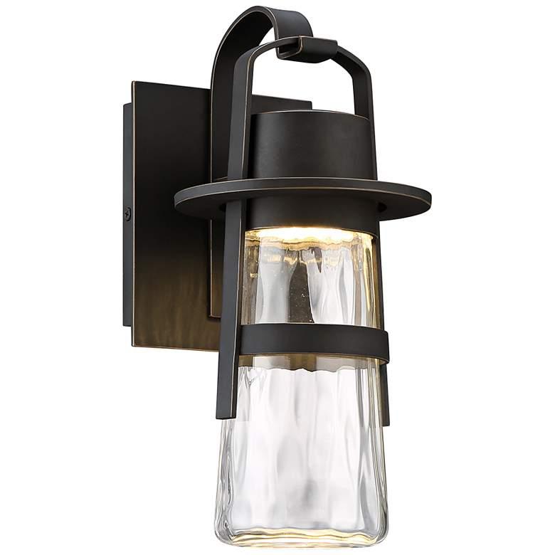 "Modern Forms Balthus 14"" High Bronze LED Outdoor Wall Light"