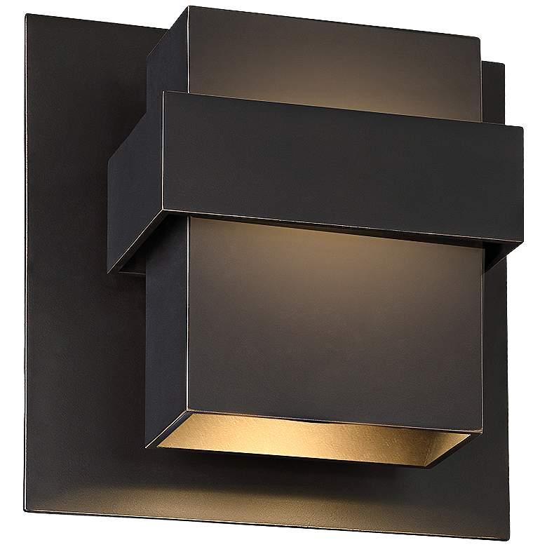 "Modern Forms Pandora 9"" High Bronze LED Outdoor Wall Light"