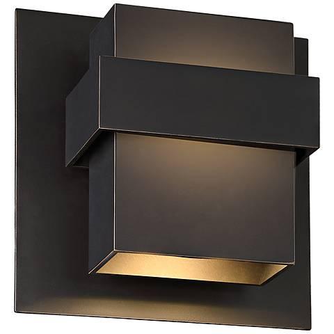 """Modern Forms Pandora 9"""" High Bronze LED Outdoor Wall Light"""