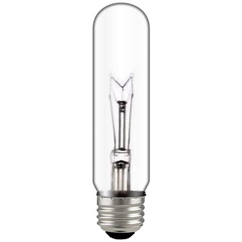 Satco 60 Watt Clear Glass Tubular Bulb