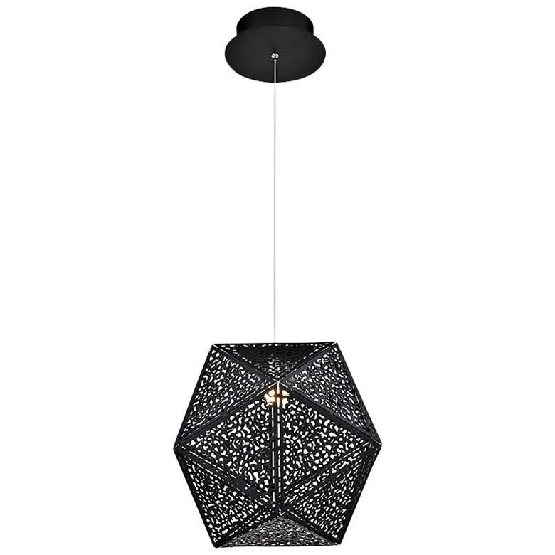 "Modern Forms Riddle 12"" Wide Black LED Mini Pendant"