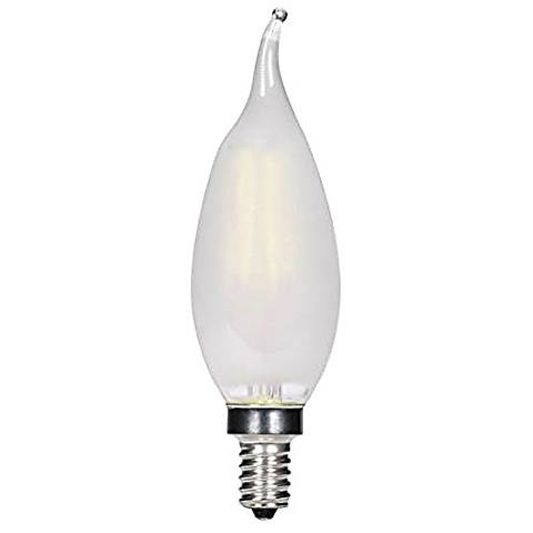 40W Equivalent Frosted Flame 3.5W LED Candelabra Bulb