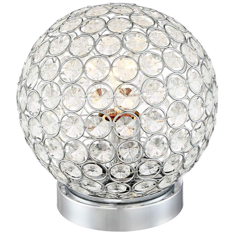 """Amy 7 1/2"""" High Crystal Accent Table Lamp"""