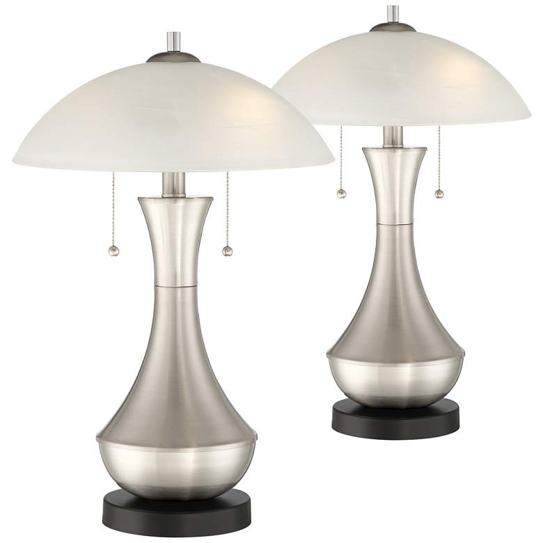 Simon Modern Accent USB Table Lamps Set of 2
