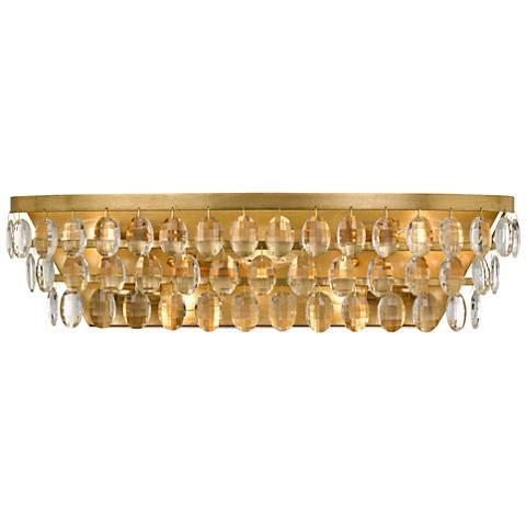 "Crystorama Perla 24"" Wide Antique Gold Bath Light"