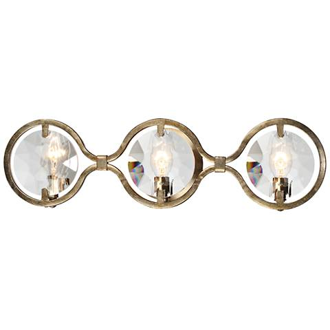 "Quincy 25"" Wide Distressed Twilight 3-Light Bath Light"