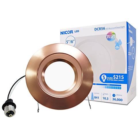 "Nicor DCR 5""/6"" Aged Copper 10.5W LED Retrofit"