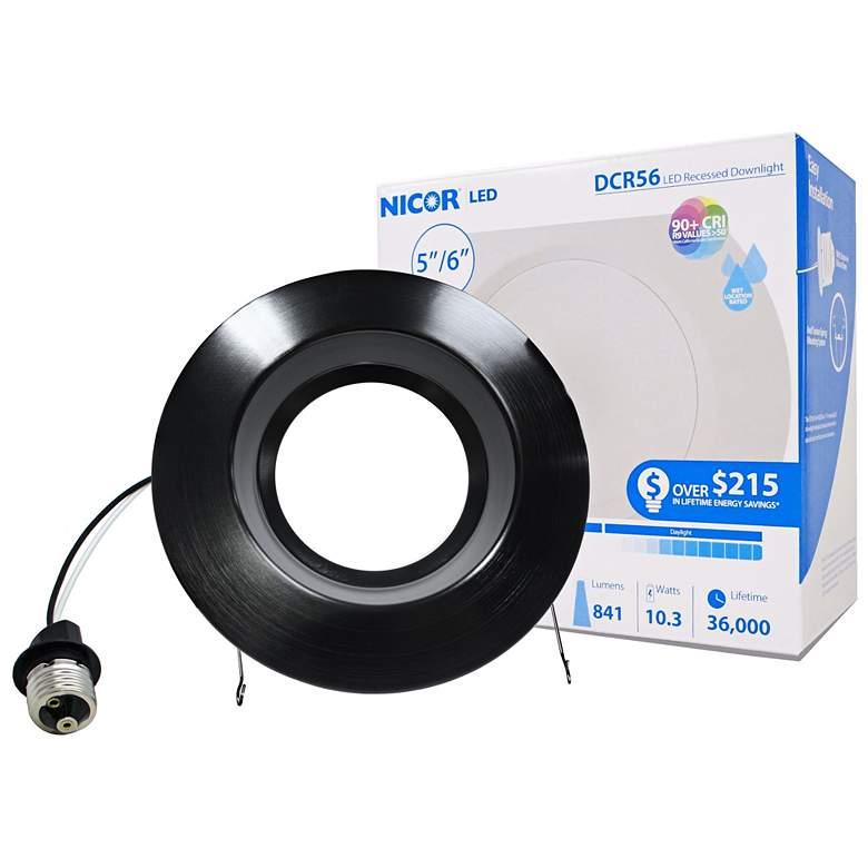 "Nicor DCR 5""/6"" Black 10.5 Watt LED Retrofit Downlight"