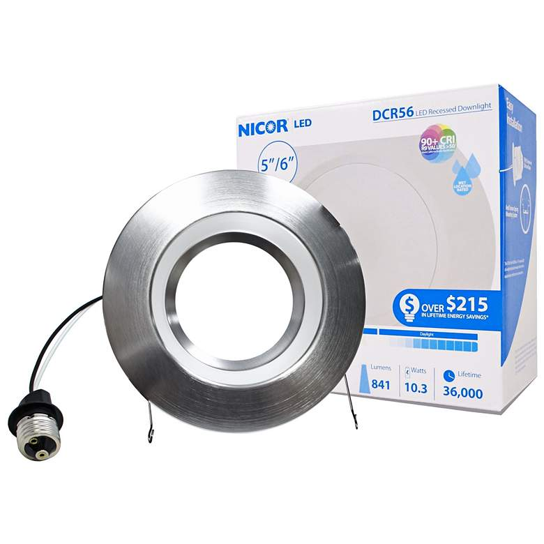 "Nicor DCR 5""/6"" Nickel 10.5 Watt LED Retrofit"