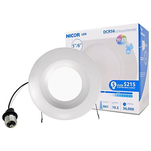 "Nicor DCR 5""/6"" White 10.5 Watt LED Retrofit Downlight"