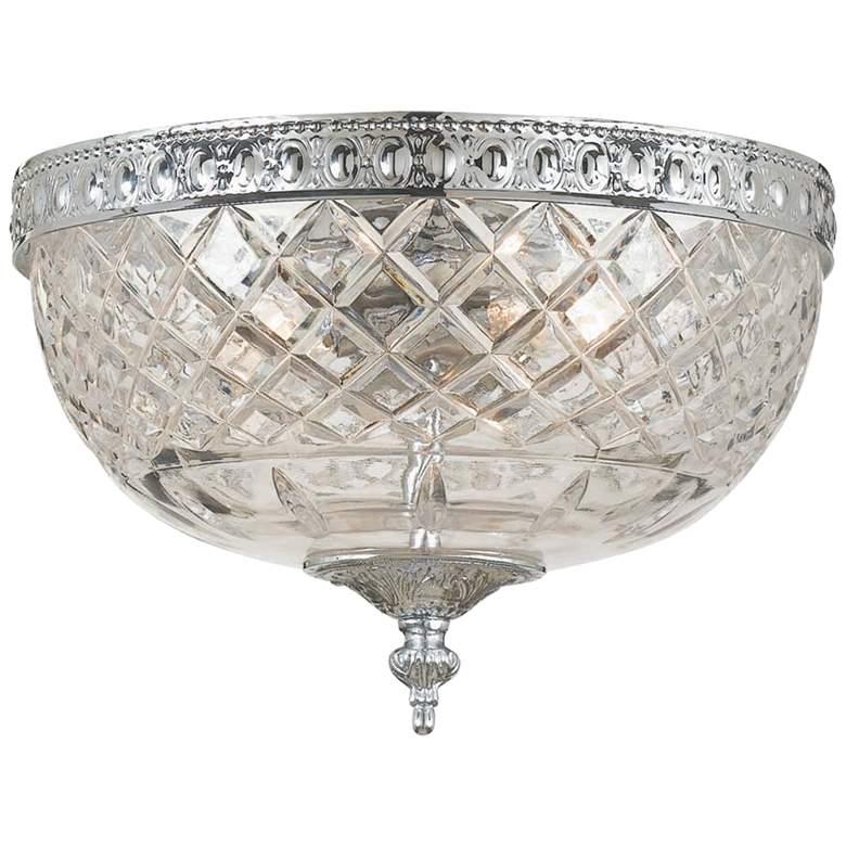 """Crystorama Ceiling Mount 8"""" Wide Polished Chrome Ceiling Light"""