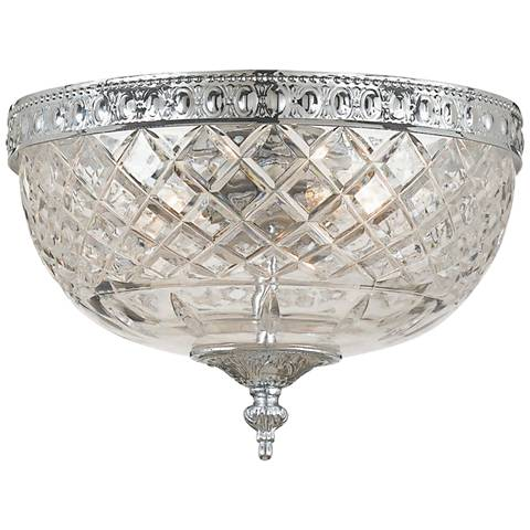 "Crystorama Ceiling Mount 8"" Wide Polished Chrome Ceiling Light"