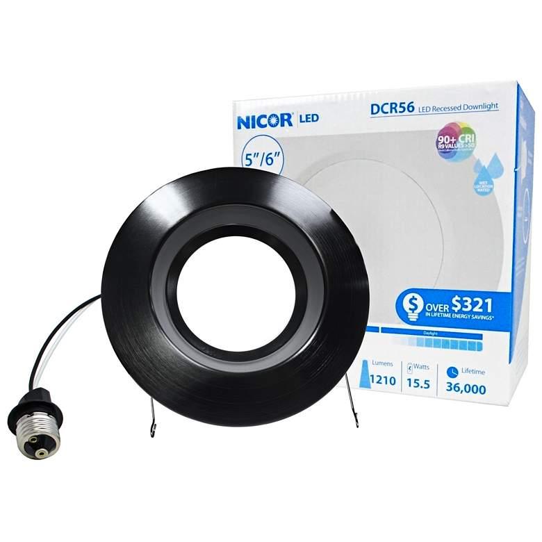 "Nicor DCR 5""/6"" Black 14.5 Watt LED Retrofit Downlight"