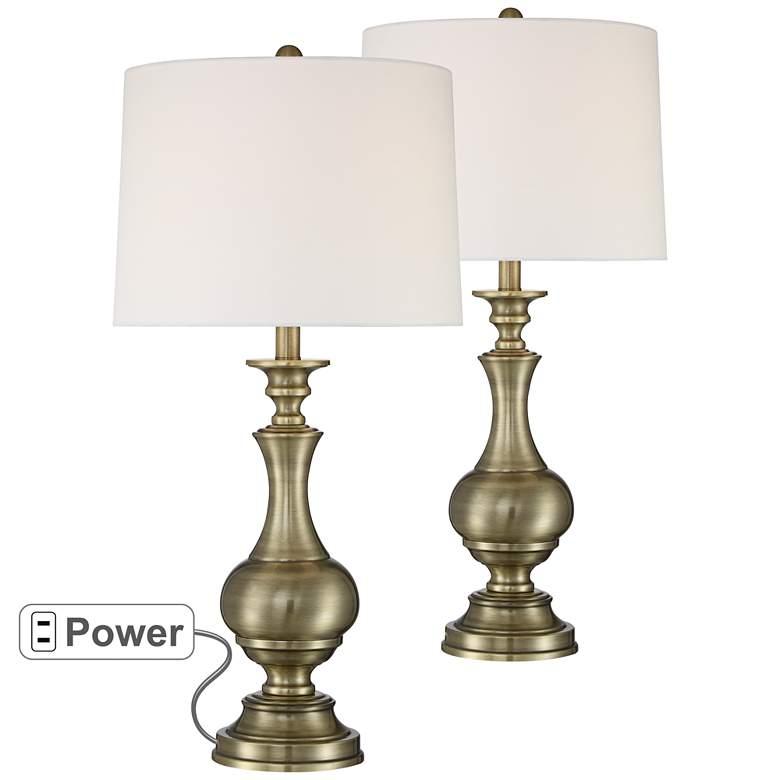 Gail Brass Metal Table Lamp Set of 2