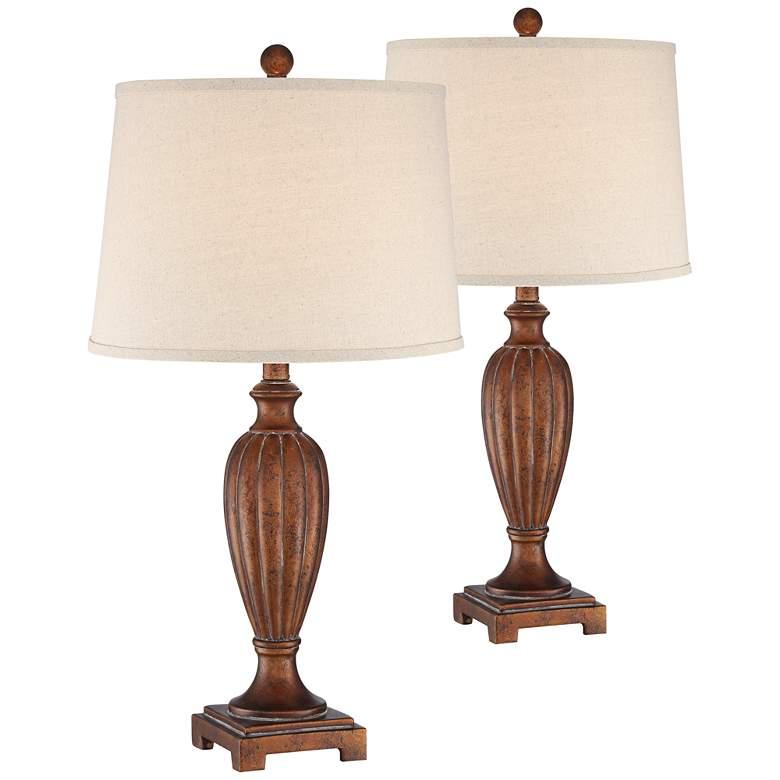 Wanda Copper Bronze Table Lamp Set of 2
