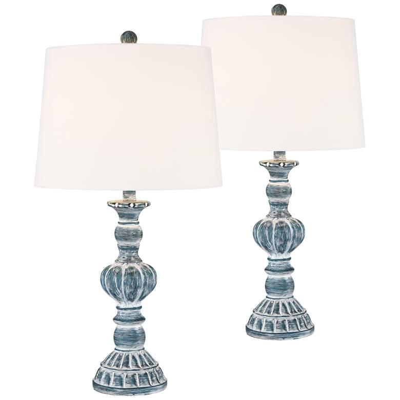 Tanya Blue Wash Table Lamp Set of 2